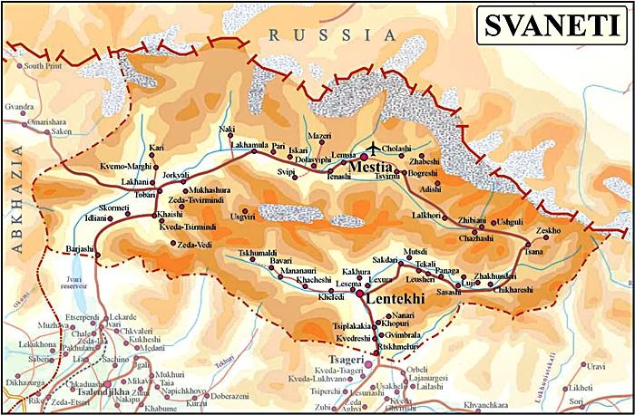 Alfa Img  Showing Gt Map Of Ushguli